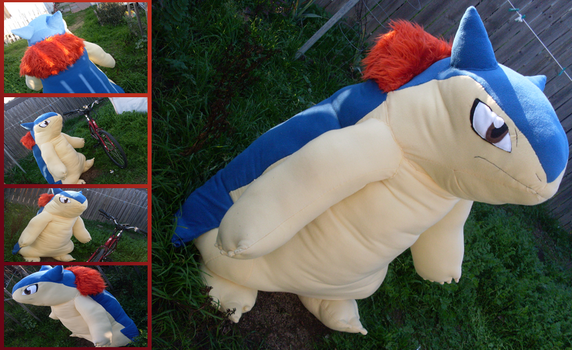 Commission: Lifesize Typhlosion by MouseAlchemist