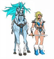 Saphora and her horse reference by ChrisFaccone