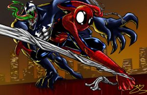 spiderman and venom by jack0001