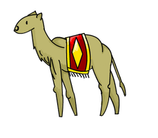 Free (inaccurate) camel lineart + colors by MonsterRadio