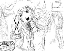 Naruto with his ramen by DramaQueen14