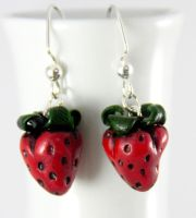 Yummy Strawberrys Earrings by NeverlandJewelry