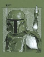 Boba Fett sketch by sarahwilkinson
