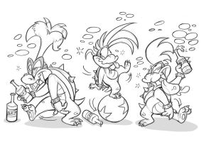 Koopalings Party by dodgyrommer