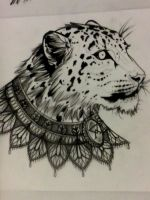 Snow leopard. by Akumashugitattoo