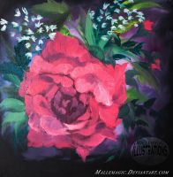 Oil Roses III by Mallemagic