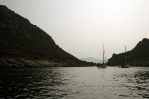 boats and hills by Aliey