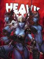 HEAVY METAL September Cover - KUNKKA by DeevElliott