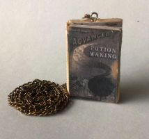 Harry Potter Advanced Potion Making Book Necklace by ChroniclesOfKate