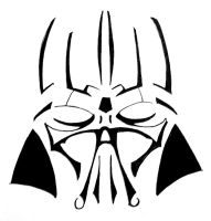 Vader Tribal Tattoo Design by Tophoid