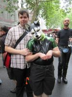 Master and me at Folsom Europe Street Fair by tenshi-no-hi