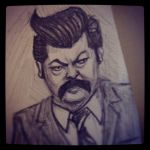 Ron Swanson by Ambair