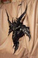 Baphomet leather mask by MidnightZodiac