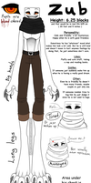 Zub reference sheet by Drawotion