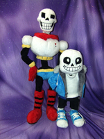 Bone Bros Plushies by Skeleion