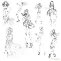 Fashion girls sketches 2010 by lanitta