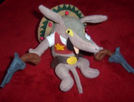 TOOTHPICK PLUSH SLY COOPER by Victim-RED