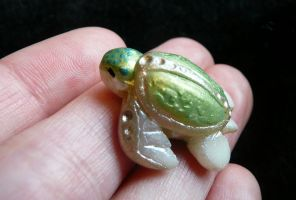Sea Turtle Bead by Shalladdrin