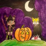 TailsXNicole Halloween Contest Entry by The-Skyward-Wolfman