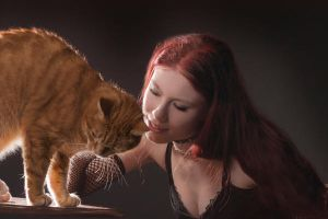 with cat by Sizhiven