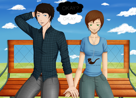[C] Augustus and Hazel - The fault in our stars by barbiea1000
