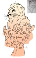 Lion King: Scar and the Hyena's (remade) by Blastebird