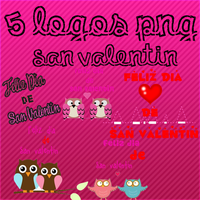 Pack 5 logos png de San Valentin. by karlyeditions