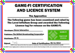 The Apprentice Game-Fi Certificate by LevelInfinitum