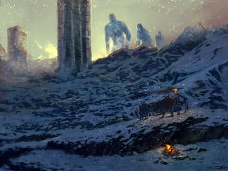 March of the Ice giants by PabloFernandezArtwrk