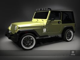 jeep wrangler sporty front by 3dmanipulasi