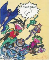 Robin Leads the Teen Titans by The-Robin-Club
