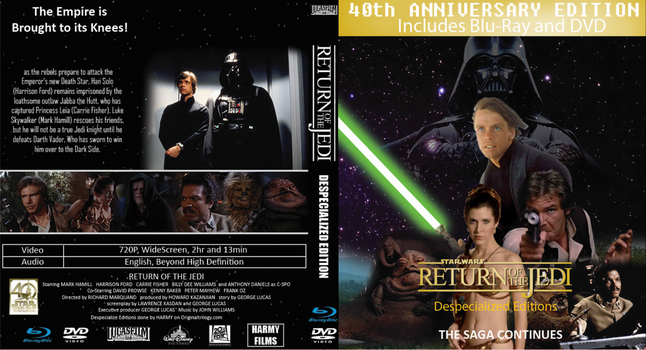 Return of the Jedi 1983 DSE Cover 40th Anniversary by EJLightning007arts
