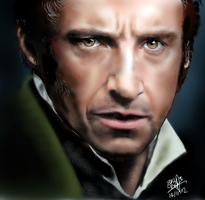 Painting of Hugh Jackman by chaseroflight