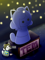 The Temmie's statue by ultimatewino