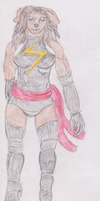 Samantha as Ms Marvel by WhippetWild