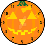 Pumpkin Clock by reddev1n