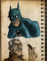 batman and jim gordon by HEROBOY