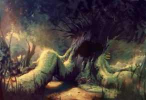 fairytale project sleeping tree by Abuze