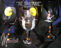 'The Nightmare' Wine Glass by ForesakenFaerie