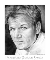 Chef Gordon Ramsay by gregchapin