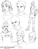 'Avril' character sketches by jaffaanonymous