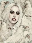 White crow ( Lady Gaga) by Tolmachov