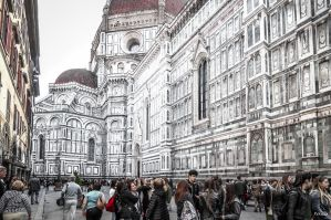People and architecture in Firenze by Rikitza