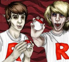 Zombie Team Rocket by rainbowmeat
