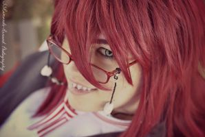 Cosplay - Grell Headshot by SammehChu