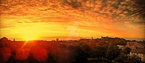 Fire Morning Glasgow by TaintedVampire