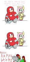 Knuckles and Fluttershy: Environmental protection by HoshiNoUsagi