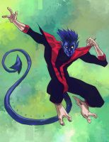 Nightcrawler By Marciotakar colors by SpicerColor