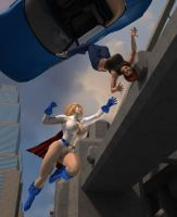 Powergirl to the Rescue by willdial