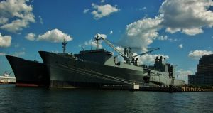 Military Vessels Docked In Baltimore by Matthew-Beziat